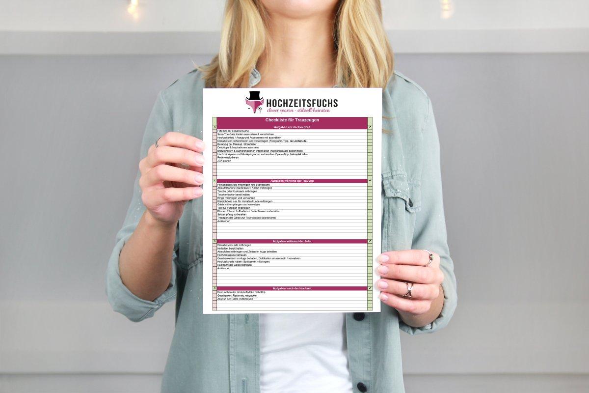 Gratis Checkliste zu den Aufgaben eines Trauzeugen