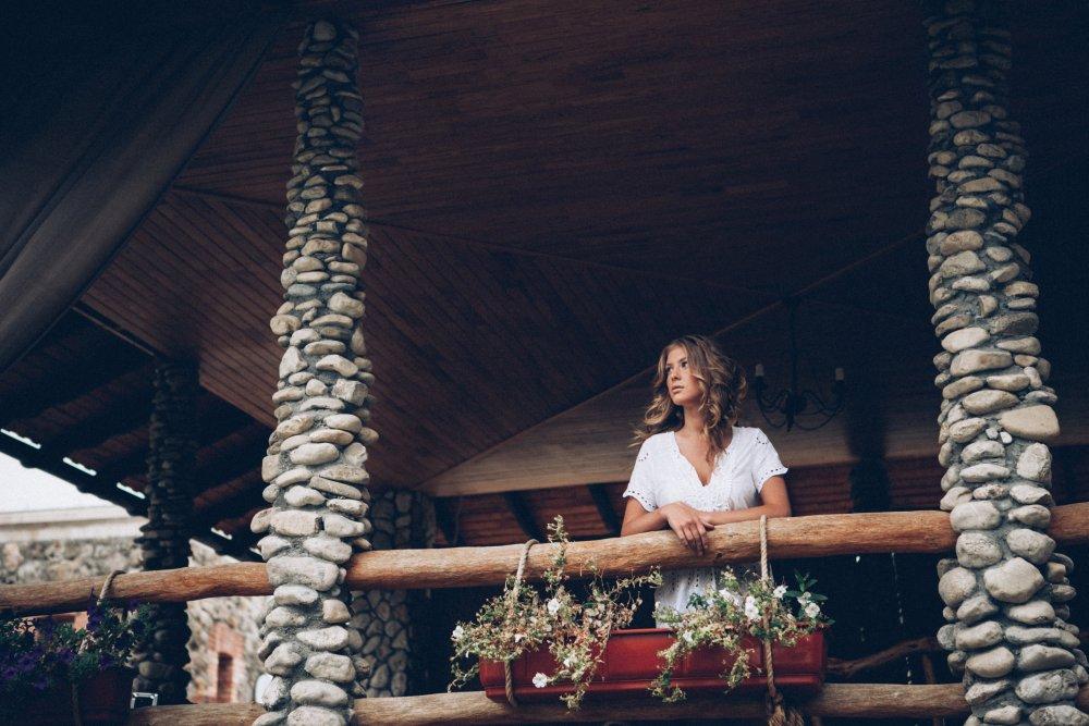 Braut wartet auf Hochzeit