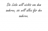Die Liebe will nichts – Dietrich Bonhoeffer