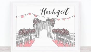 Hochzeitsschilder: Große Wirkung zum Nulltarif